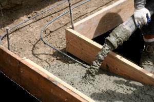 Укладка бетона (заливка)