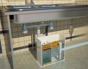 Как установить сепаратор жира под мойку?